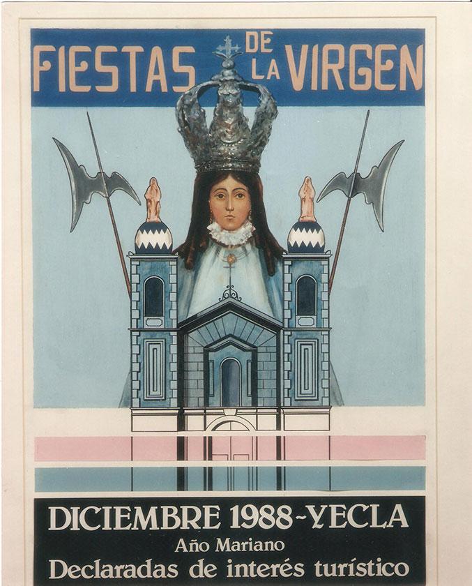 Cartel Fiestas de la Virgen año 1988