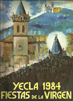 Cartel Fiestas de la Virgen año 1984