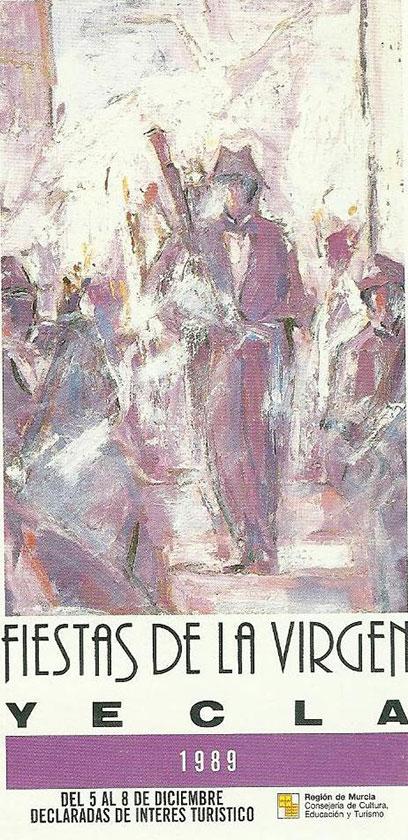 Cartel Fiestas de la Virgen año 1989