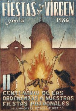 Cartel Fiestas de la Virgen año 1986