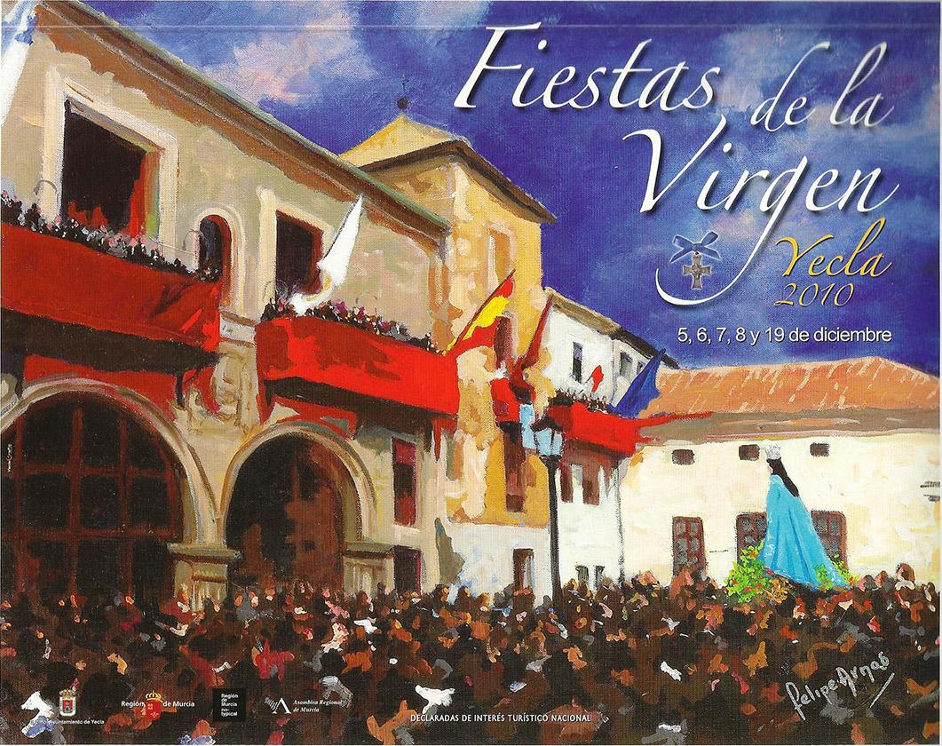 Cartel Fiestas de la Virgen año 2010