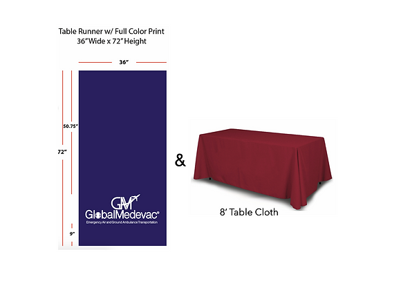 Tablecloth and GM Logo Runner
