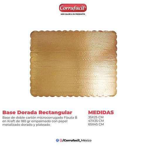 Base Dorada Rectangular