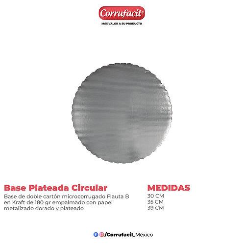 Base Plateada Circular