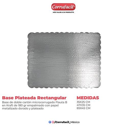 Base Plateada Rectangular