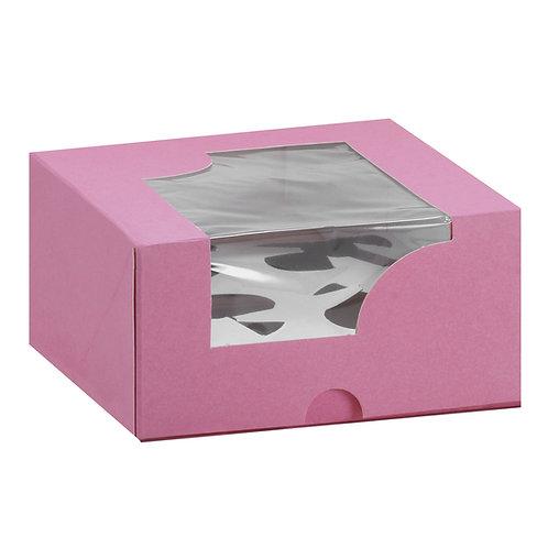 Caja para cupcake 4 pieza