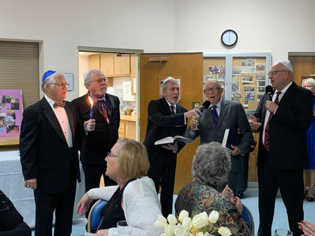 Havdalah With Three Rabbis and One Cantor at Temple Beth Shalom Sun City 50th Anniversary