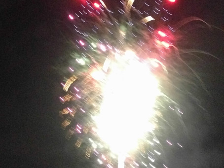 July 4th Fireworks in Mobile, Alabama