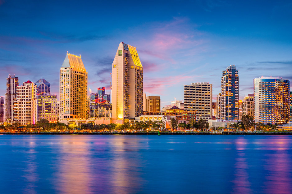 San Diego, California, USA downtown cityscape at twilight..jpg