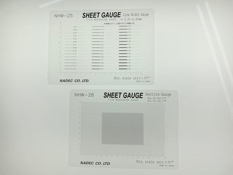 【新発売】 線幅・方眼シートゲージ