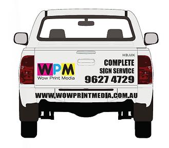 Wow Print media car signage