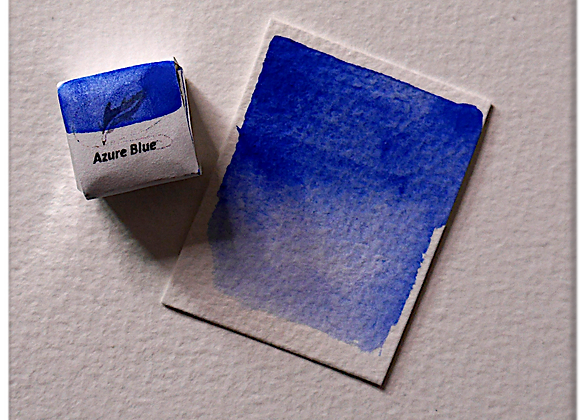 Azure Blue Handmade Watercolour Half Pan