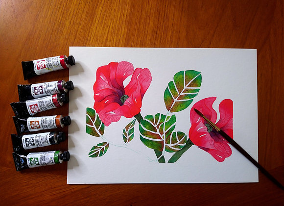 Poppies A4 Fine Art Print