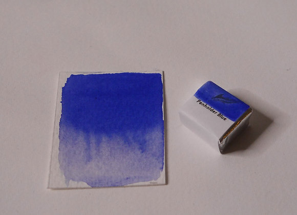 Penholder Blue Handmade Watercolour Half Pan