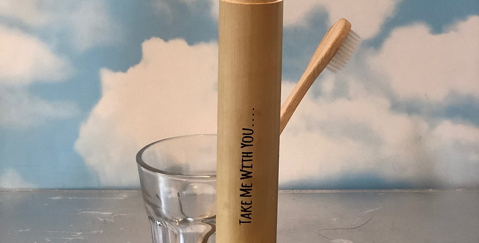 Personalised Bamboo Toothbrush Holder