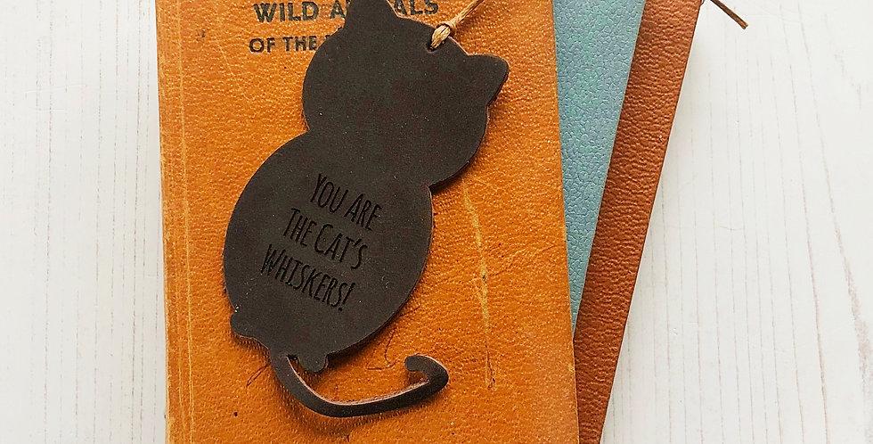 Leather Cat Bookmark