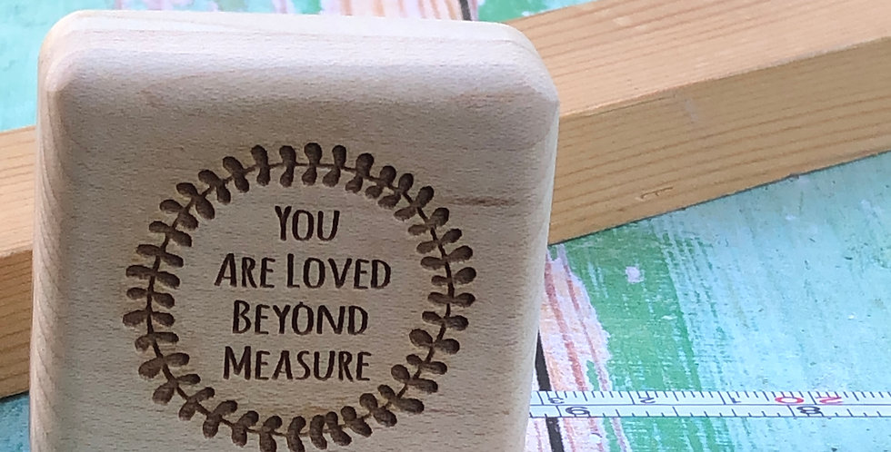 Personalised Wooden Tape Measure 2m Long