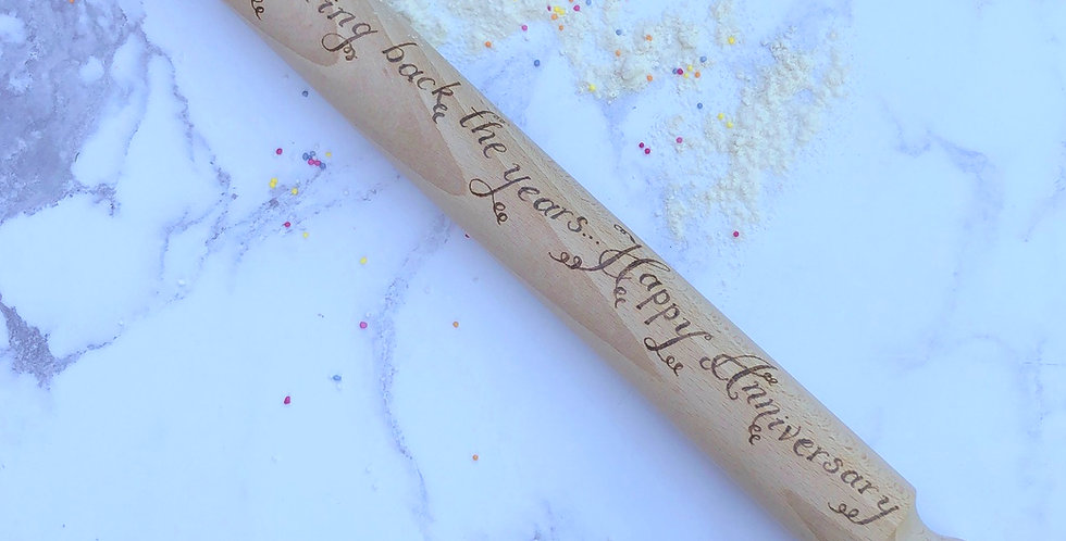 Wooden Anniversary Rolling Pin