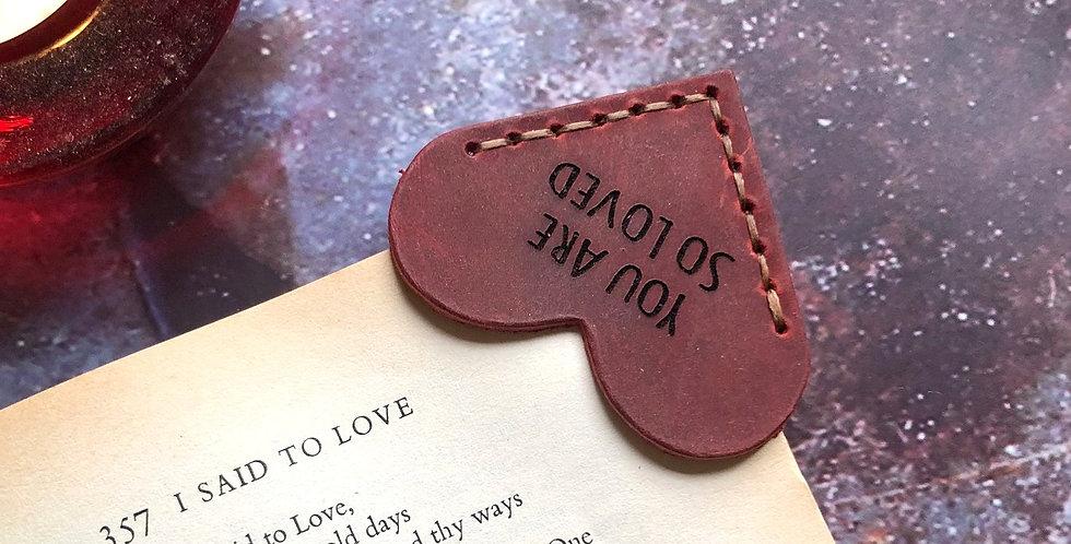 Personalised Heart Corner Bookmark