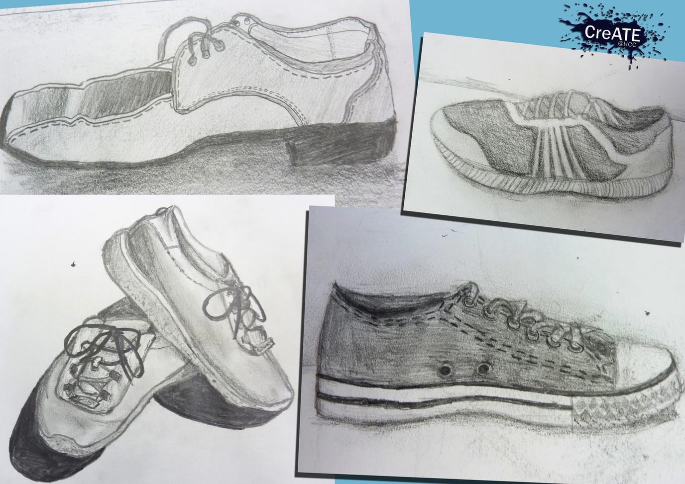 Year 8 Shoe Drawings