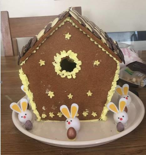 S Flynn Easter Gingerbread House