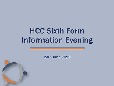 Sixth form information evening.PNG