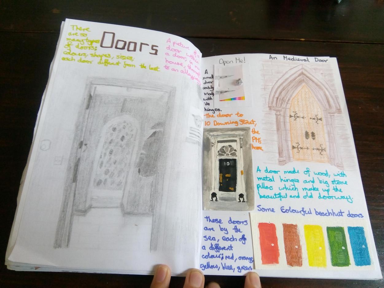 Hannah E Doors Sketchbook