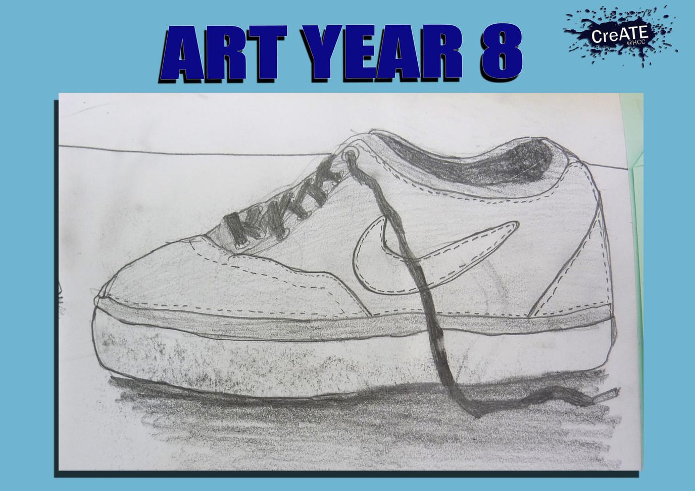 Year 8 Shoe Drawing