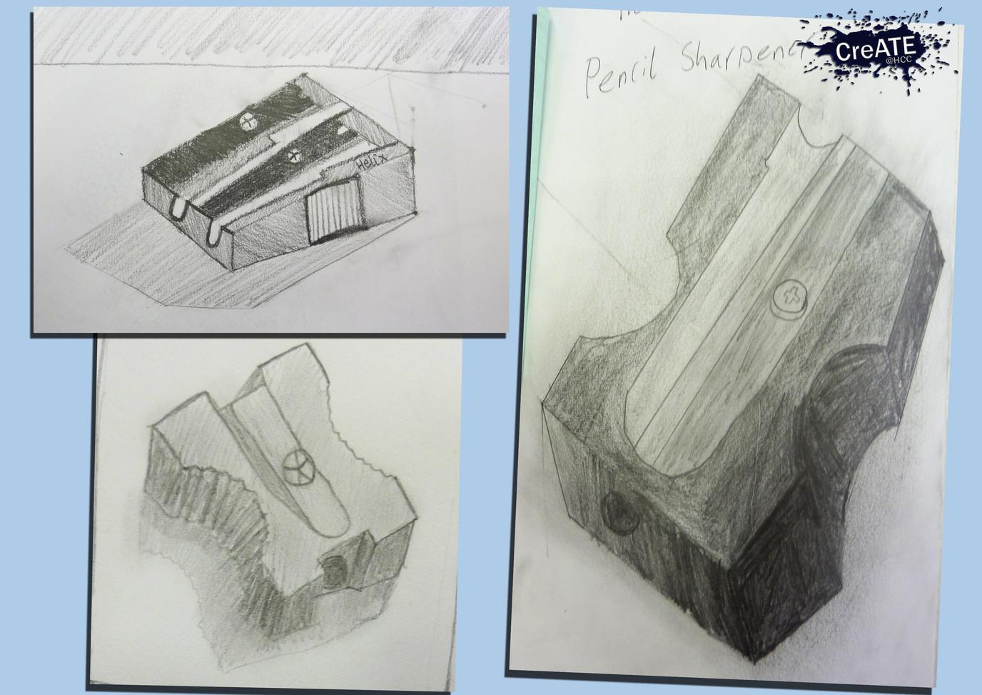 Year 7 Pencil Sharpener Drawings