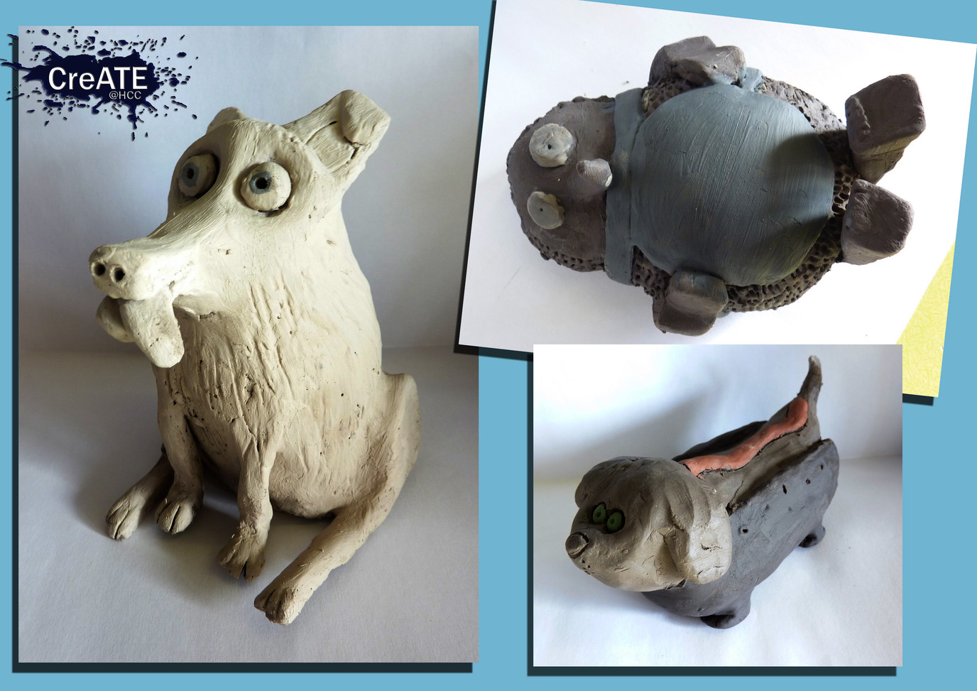 Year 8 Clay Figures