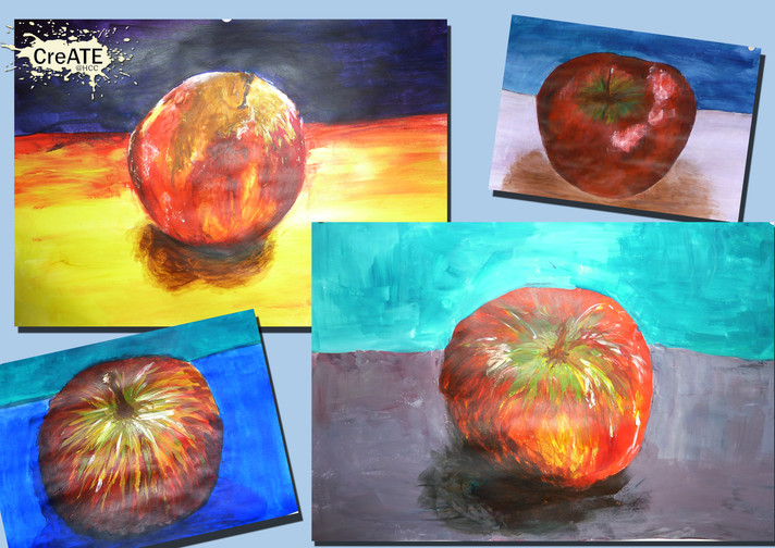 Year 9 Experimenting with Acrylic