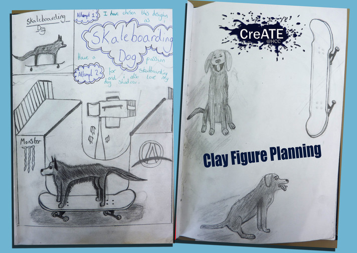 Year 8 Planning a Clay Figure