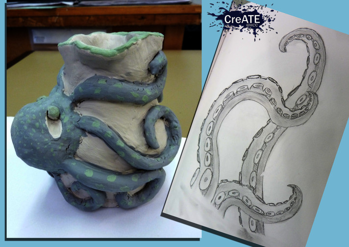 Year 8 Clay Figure Process