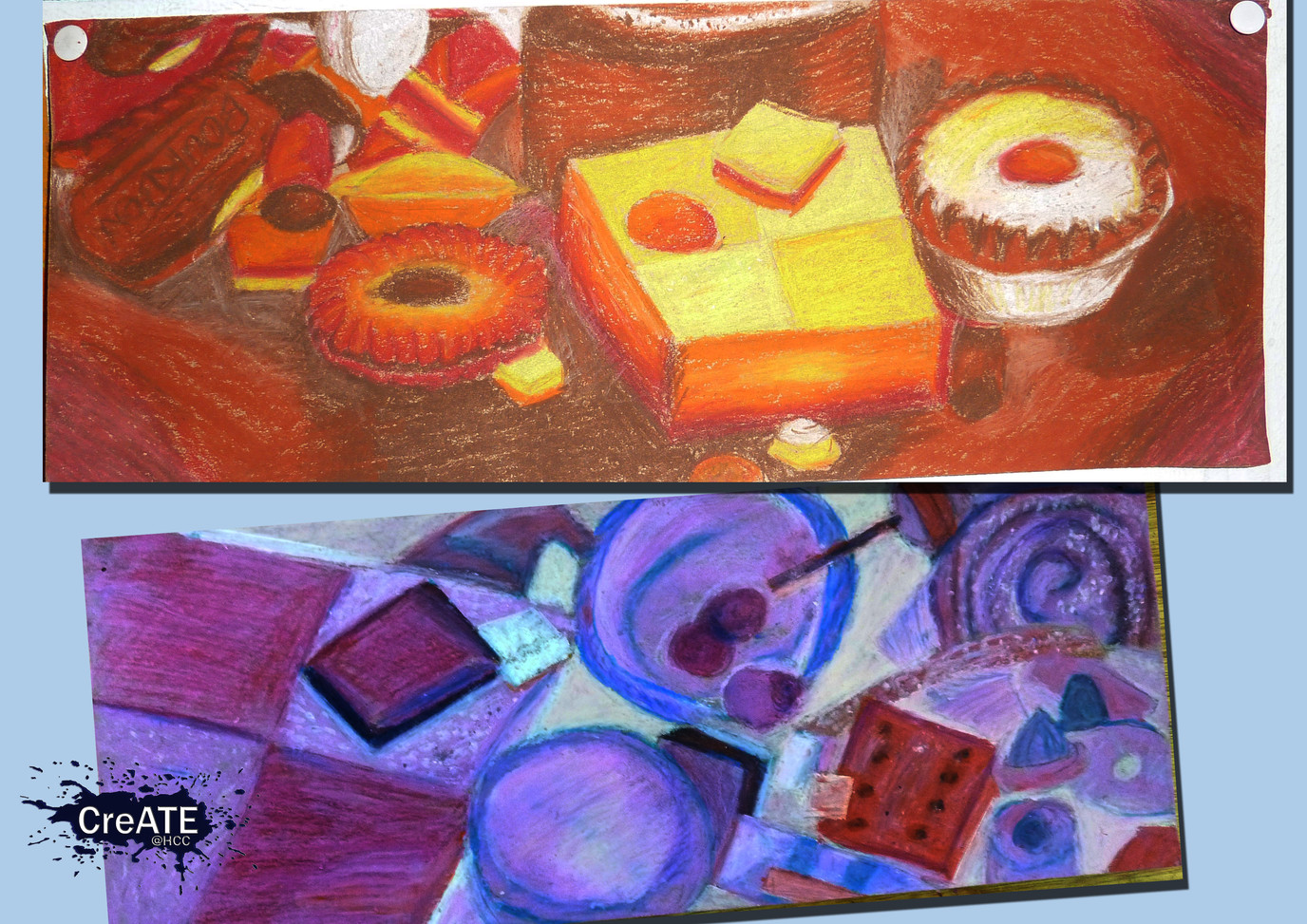 Year 9 Oil Pastel Experiment