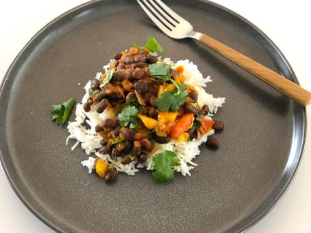 Sweet Mango Black Bean Curry