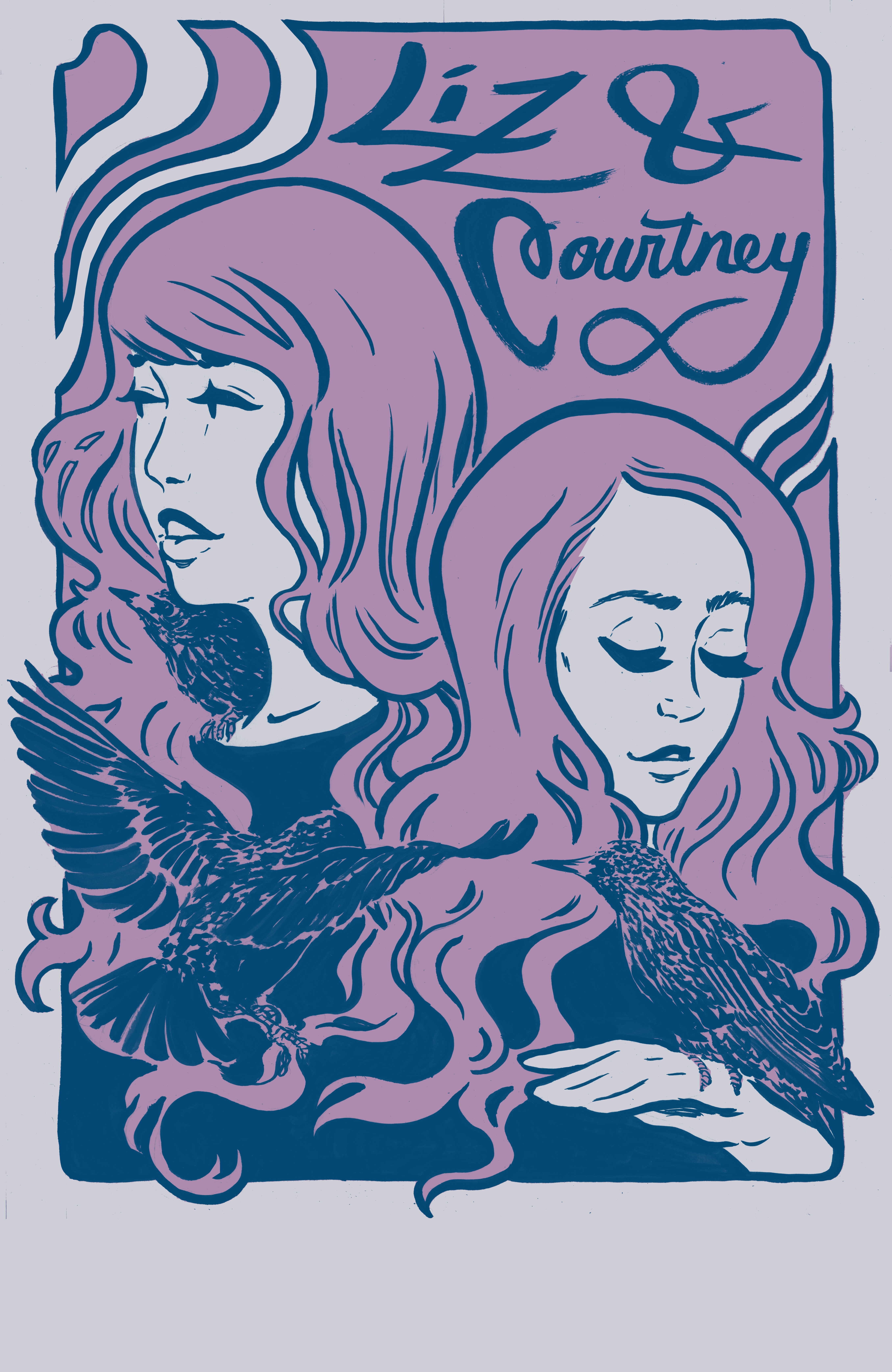 Liz & Courtney Illustration