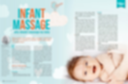 Infant massage magzine artic layout