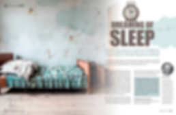Insomnia article magazine layout design