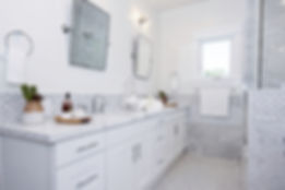 White & Marble Bathroom Renovation Los Angeles