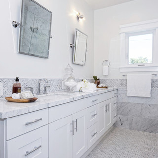 SFV Custom White Marble Bathroom