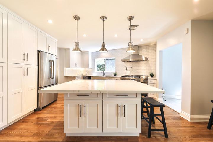 stunning white kitchen remodel burbank c