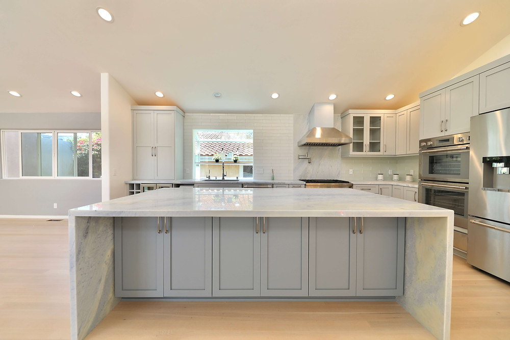 Gray and White Kitchen Remodel by Los Angeles General Contractor
