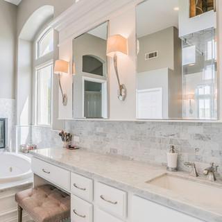 Highland Park, CA, Luxury Bathroom Remodel w/Fireplace