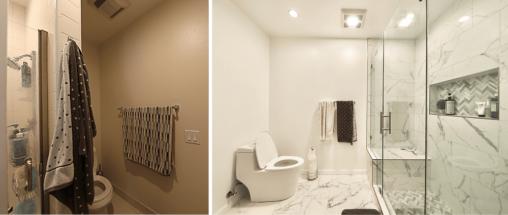 Luxurious Bathroom Remodel in Los Angeles - Before and after