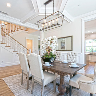 Luxe White Dining Room Remodel