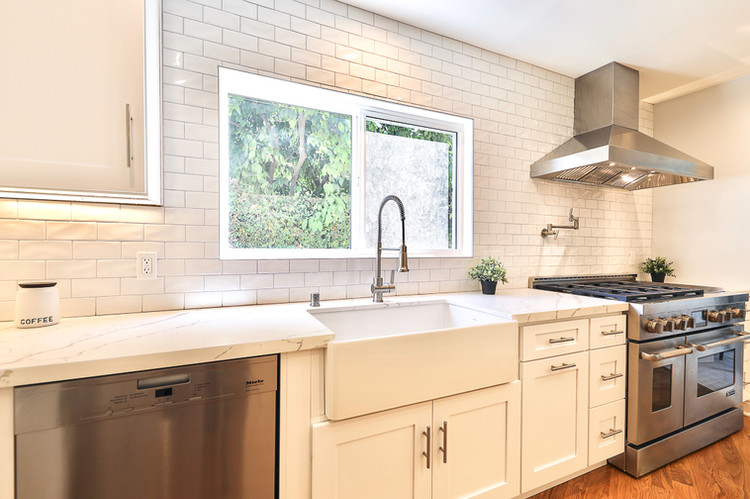 burbank kitchen remodel with farmhouse s