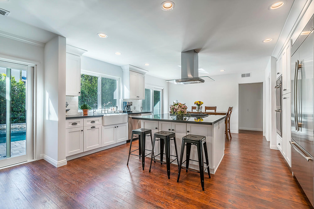 Stunning white kitchen remodel in Los Angeles, CA