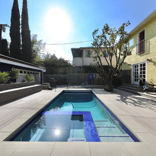 Custom landscaping and pool construction