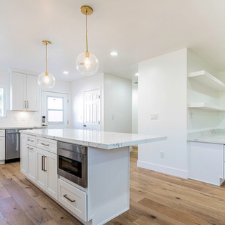 Contemporary White L.A. Kitchen Remodel.