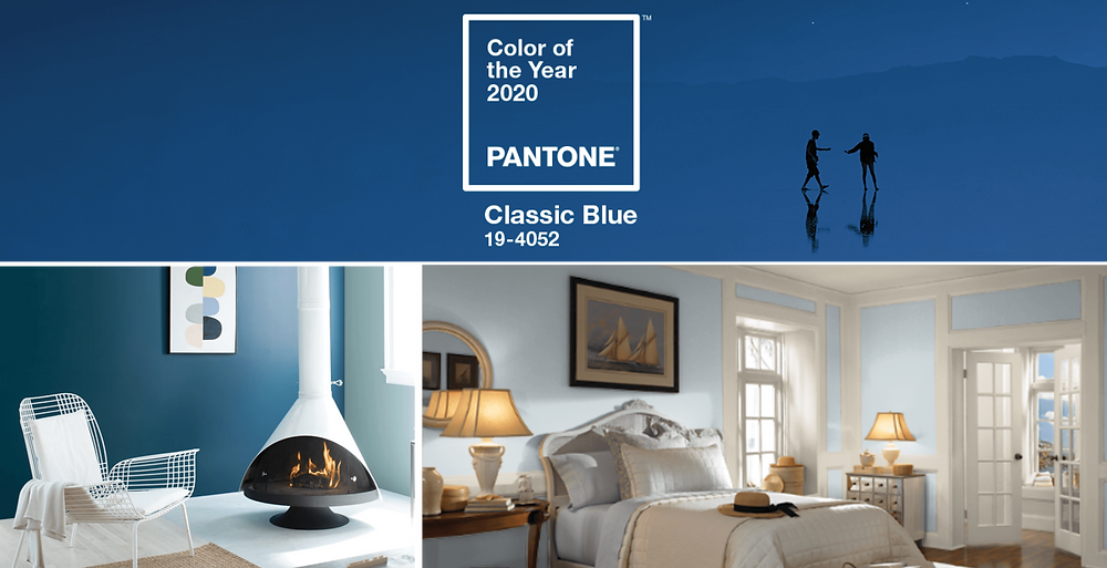 Pantone Classic Blue and Blue Color Trends 2020